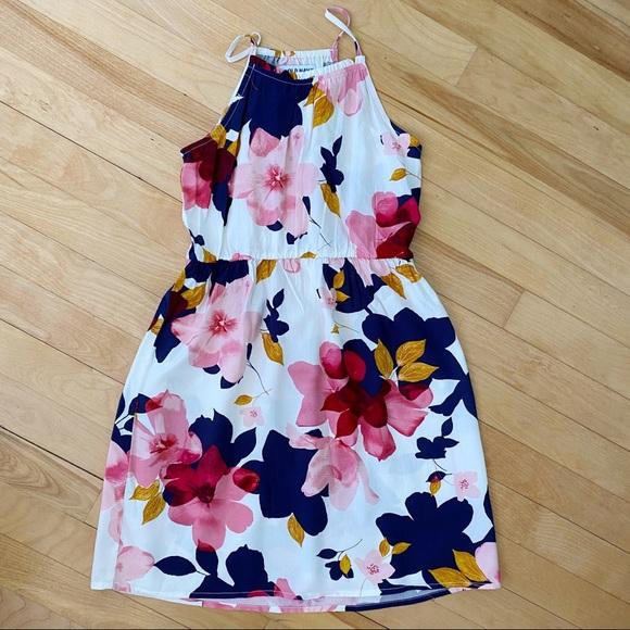 Old Navy Floral Halter Dress - Size M